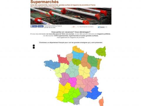 Carte de France des Supermarchés